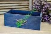 Ящик для цветов с ручкой Vintage пыльный синий, шт