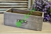 Ящик для цветов с ручкой Vintage серый меланж, шт