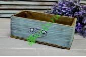 Ящик для цветов с ручкой Vintage голубой меланж, шт