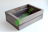 Деревянный ящик для подарков Техас, графит