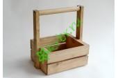 Ящик с ручкой для цветов и подарков Невада, королевский дуб