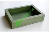 Ящик декоративный универсальный 15х20х4,5 см, пыльный оливковый