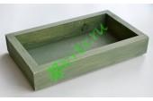 Ящик декоративный универсальный 15х25х4,5 см, пыльный оливковый