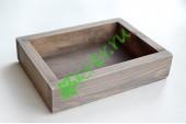Ящик декоративный универсальный 15х20х4,5 см, пыльный серый