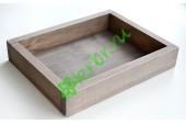 Ящик декоративный универсальный 20х25х4,5 см, пыльный серый