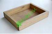 Ящик декоративный универсальный 20х25х4,5 см, королевский дуб