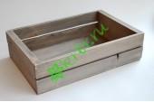 Ящик деревянный для подарков Grand, пыльный серый