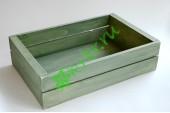 Ящик деревянный для подарков Grand, пыльный оливковый