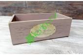 Ящик деревянный Сен-Мартен пудровый, шт