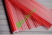 Пленка матовая красные полосы, рулон