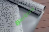 Пленка матовая двухсторонняя Листочки жемчуг/серебро, м