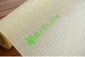 Фетр ламинированный 3D Волны кремовый, м