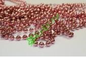 Бусы на нити розовый металлик 8 мм, метр