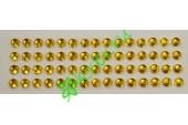 Стразы самоклеющиеся золото, 4 мм