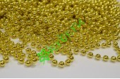 Бусы на нити золотой металлик 8 мм, метр