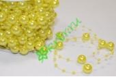 Бусины Шарики 14 мм на нити, желтый