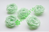 Роза из атласной ленты малая салатовая, шт.