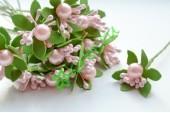 Тычинки в букетике с бусиной нежно-розовые, 1 шт