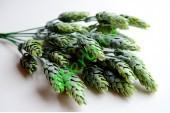 Ветка декоративная Хмель зеленый с напылением, шт