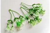 Веточка гипсофилы тройная бело-зеленая, шт