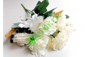 Роза-пион Валерия в букете белая, шт