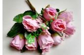 Розочки Боттичелли в букете нежно-розовые