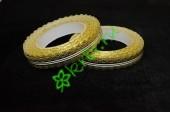 Лента кружевная золото/белая 20 мм, 3 м