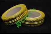 Лента кружевная золото/желтая 30 мм, 3 м