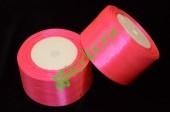 Лента атласная ярко-розовая 50 мм, метр