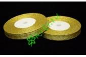 Лента парча золото 5 мм, 1 м