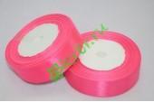 Лента атласная ярко-розовая 25 мм, метр