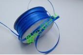 Лента атласная (8107) Синяя 3 мм, 3 м