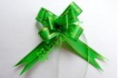 Бант бабочка с золотой полосой зеленый, шт