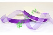 Лента органза (1031) фиолетовая, 1 м