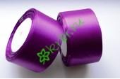 Лента атласная фиолетовая 50 мм, метр