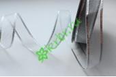 Лента декоративная сеточка серебро 20 мм, 1 м