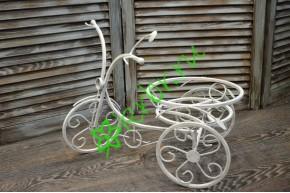 Велосипед кованый белый