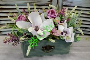 Ящик для цветов с ручкой Vintage пыльный зеленый, шт