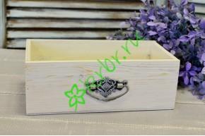 Ящик для цветов с ручкой Vintage античный белый, шт