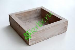 Ящик декоративный универсальный 15х15х4,5 см, миланский орех