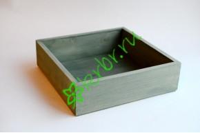 Ящик бокс  деревянный 25х25х7,5 см, оливковый