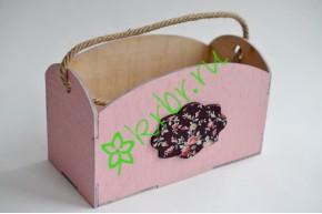 Кашпо Глория с шильдой розовое, шт