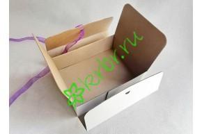 Подарочная коробка фигурная БЕЛАЯ 20х15х6,5 см, от 50 шт