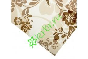 Бумага упаковочная, Золотые пионы