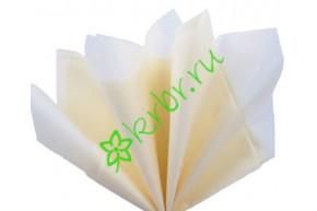 Бумага тишью Кремовый, лист 50х66 см
