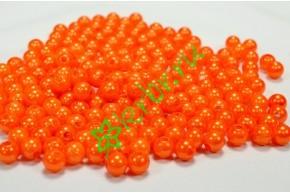 Бусины оранж 8 мм
