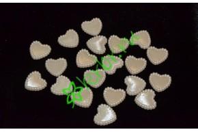 Полубусины Сердца 14 мм, айвери