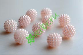 Бусины декоративные Малина персиковые