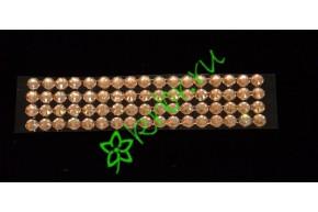 Стразы самоклеющиеся светлое золото 4 мм