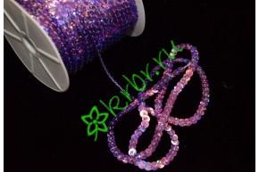 Пайетки на нити фиолетовые
